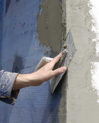 Устройство армирующего слоя мокрого фасада