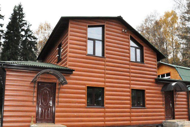 Облицовка фасада виниловым Блок-Хаусом