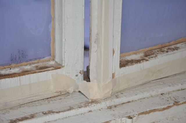 Типичное состояние старых деревянных рам