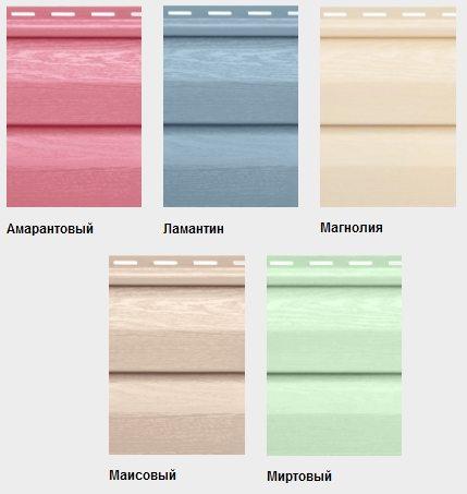 Цветной сайдинг виниловый Нордсайд — европейский лидер данной индустрии