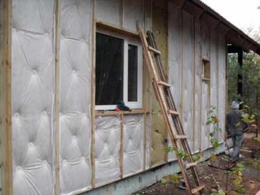Утепление фасадов деревянного дома
