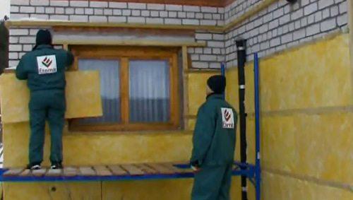 Утепление стен на деревянной обрешётке