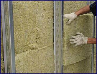 Утепление стены дома минеральной ватой