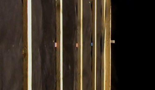 Вертикальная обрешётка из дерева