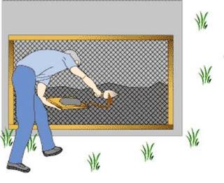 Наброска шубы через сетку