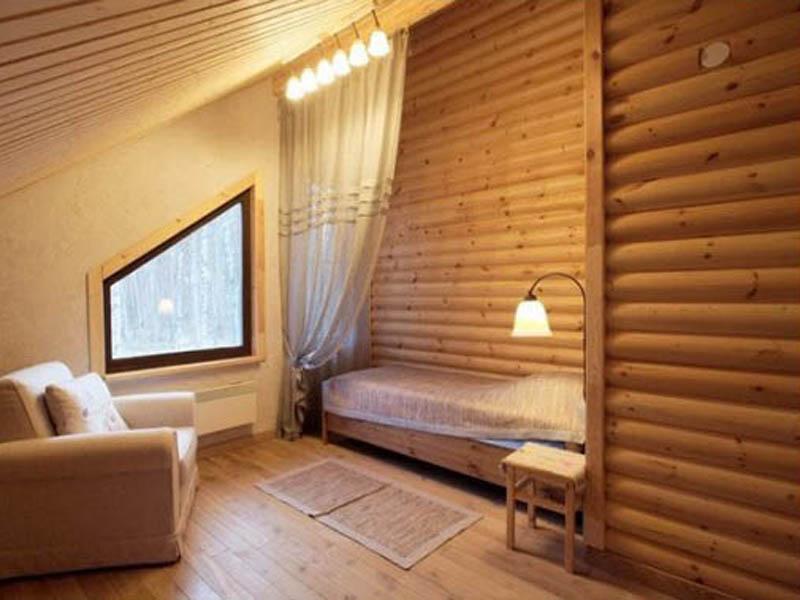 Внутренняя отделка дома Блок Хаусом из дерева