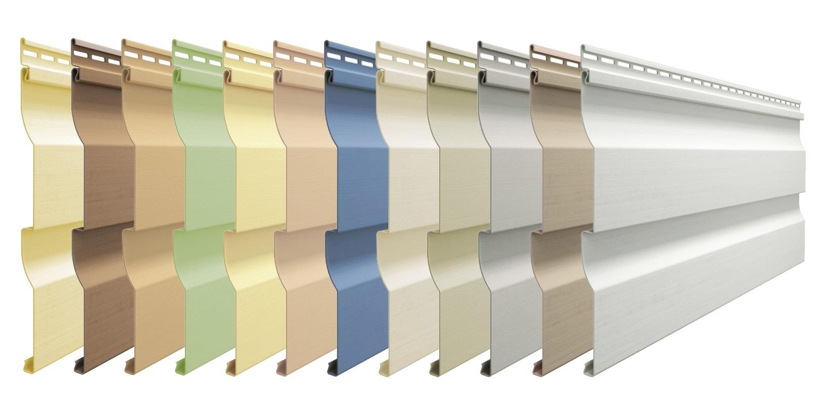 Разнообразие оттенков винилового сайдинга