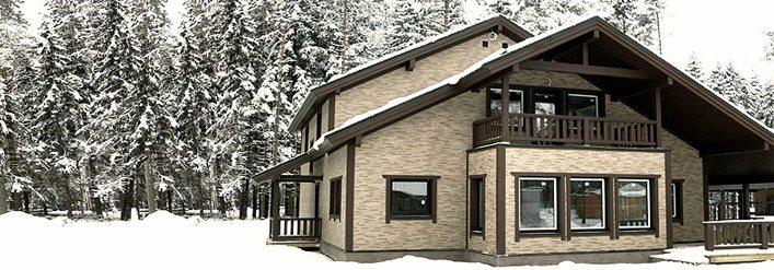 На фото - дом с навесным фасадом, отделанным японскими панелями.