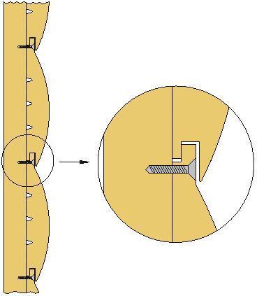 Крепление блокхауса при помощью саморезов