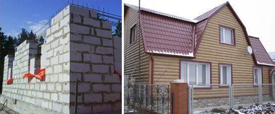 чем лучше отделать фасад дома из газобетона