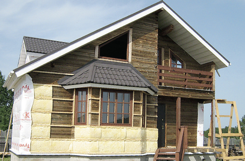 деревянный вентилируемый фасад