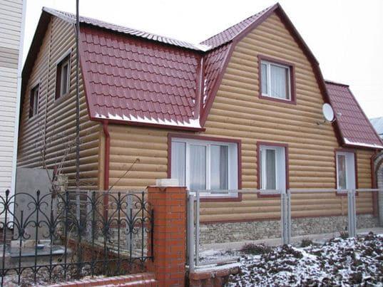 Фасад дома из металлического Блок Хауса