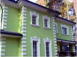 фасад дома из пенопласта