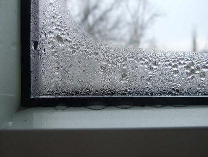 Фото конденсата на стекле