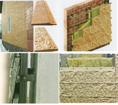 Фото: отделка цементными сайдинговыми панелями