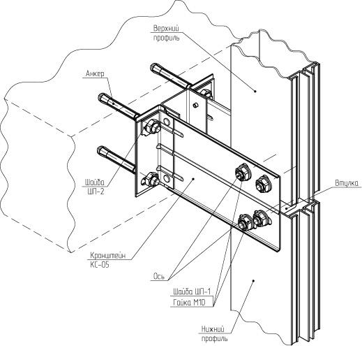 узлы крепления алюминиевых витражей Алюминиевые витражи по