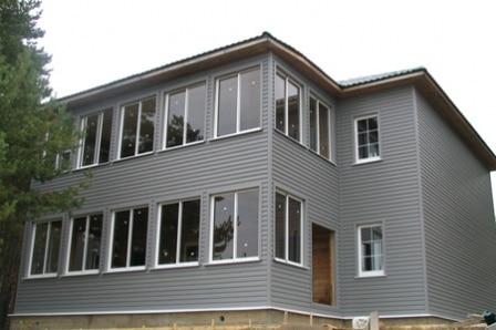 Горизонтальная облицовка фасада