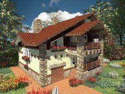 Использование штукатурки, дерева и камня в декоре фасада в стиле Прованс