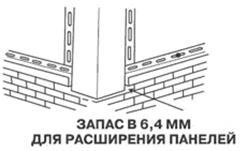 Обязательный зазор на расширение панелей