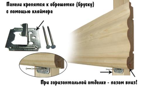 Крепление панелей к обрешетке кляймером