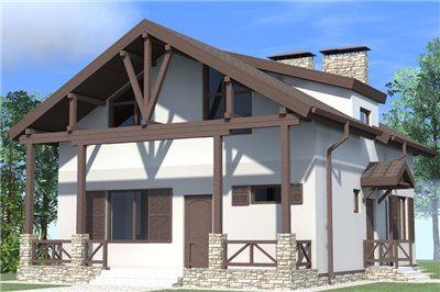 как отделать фасад дома в стиле шале