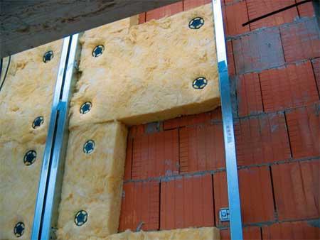 Крепление утеплителя вентилируемого фасада