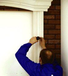 Монтаж полиуретанового оконного обрамления