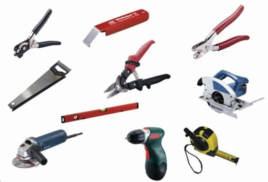 Набор инструментов для укладки сайдинга