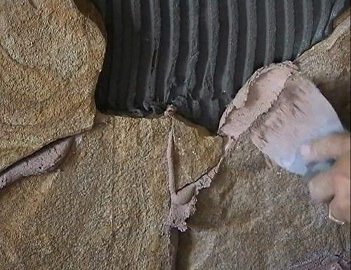 облицовка фасада природным камнем