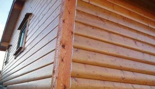 Деревянный сайдинг имитирующий брус – найти отличия можно только на близком расстоянии