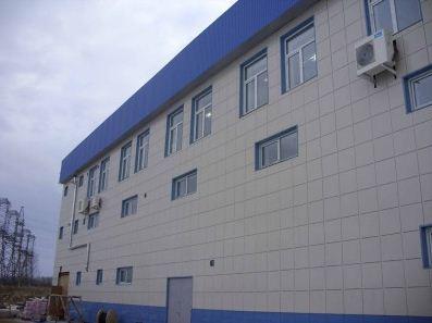 Оцинкованный вентфасад производственного здания