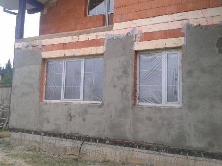 Отделка фасада минеральной штукатуркой