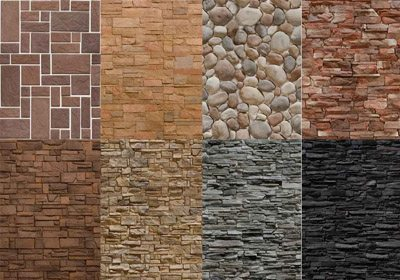 фото домов отделка искусственным камнем