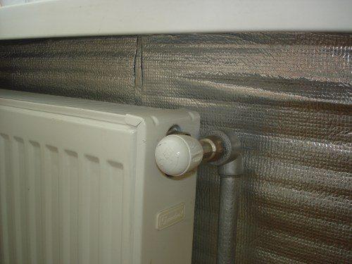 Отражающий экран батарей отопления