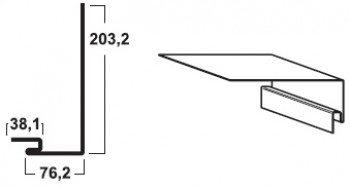 Планка приоконная, которая служит для отделочных работ вокруг дверей и окон