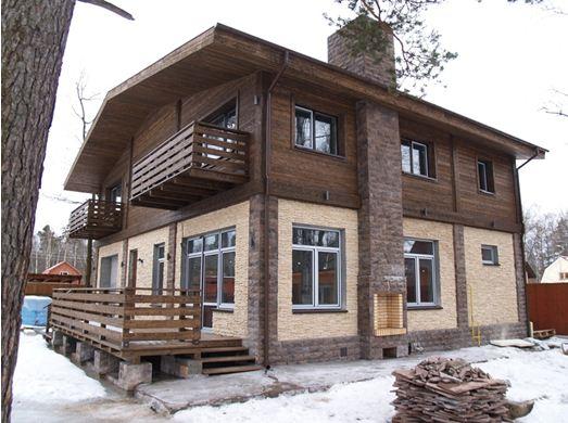 покраска фасадов деревянных домов