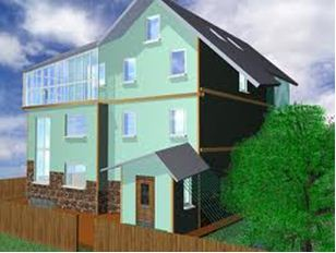 ремонт фасада дома частного дома