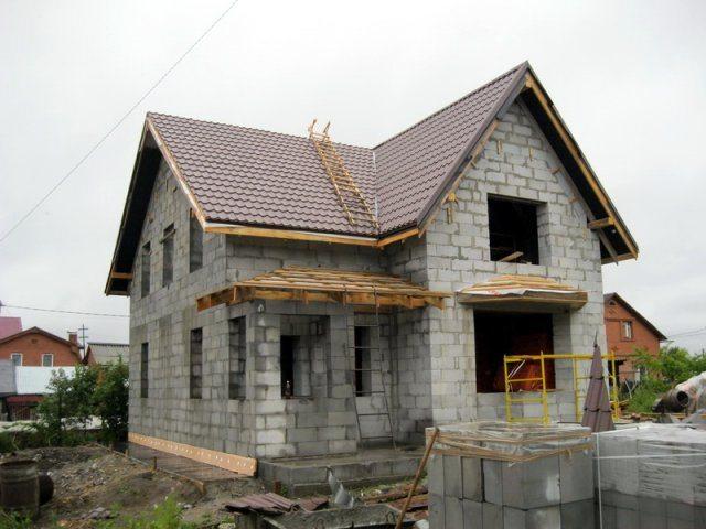 Дом из газобетонных блоков.