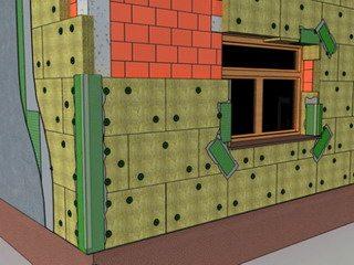 штукатурный фасад isover