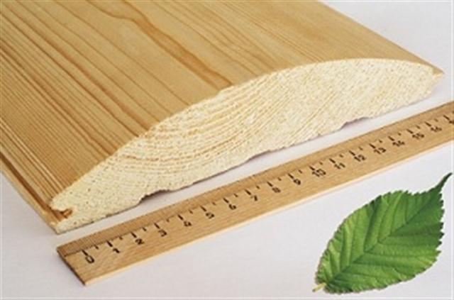 Сорт и размер деревянного Блок Хауса зависит от диаметра бревна.