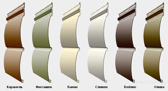 Цветовые решения винилового Блок Хауса.