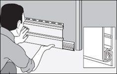 Укрепление первого ряда панелей