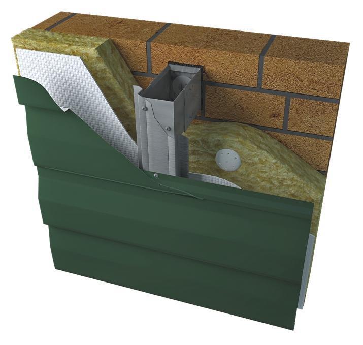 Утеплитель, обрешетка и диффузионная пленка под листом металлосайдинга